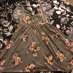 Pink and Gray Floral Torrid Dress